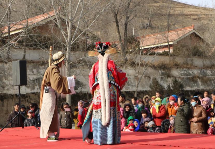 1月17日甘肃演艺集团在静宁县开展惠民演出