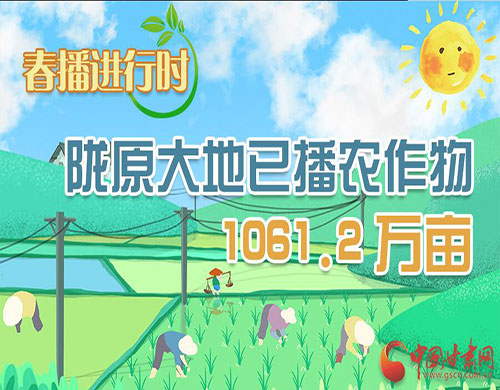 图解 |【春播进行时】陇原大地已播农作物1061.2万亩