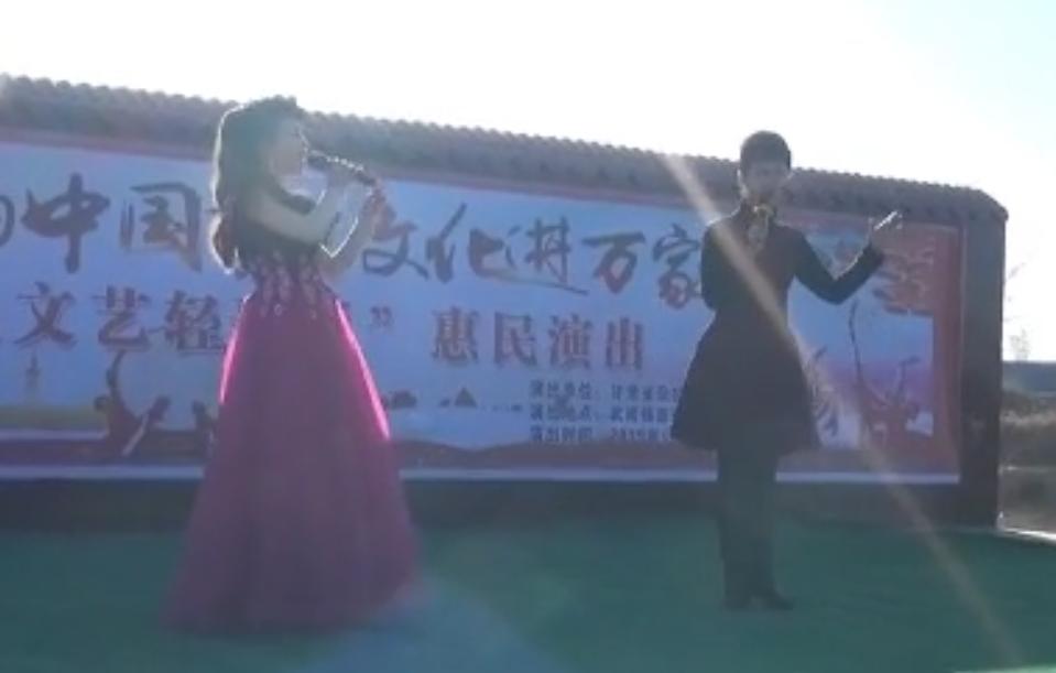 1月17日甘肃省杂技团在武威市凉州区武南镇西寨村惠民演出