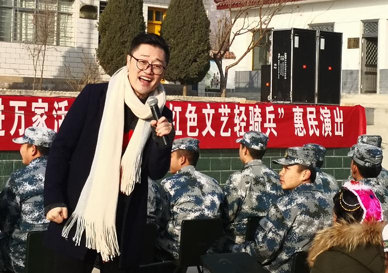 1月25日甘肃省歌剧院在临夏市永靖县岘塬镇砚塬村惠民演出