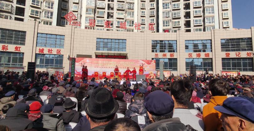 1月12日甘肃省秦腔艺术剧院在兰州市新区彩虹城社区惠民演出