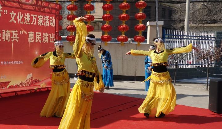 1月23日甘肃省话剧院在兰州石油化工三叶公司文艺演出