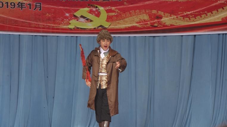 1月25日甘肃省话剧院在白银市景泰县芦阳镇条山村惠民演出