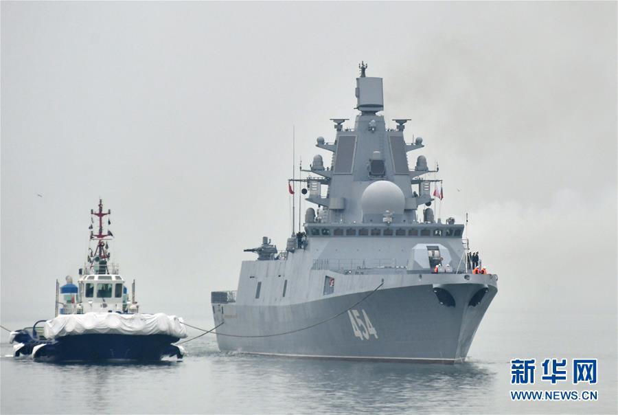 (人民海军70年)(1)来华参加多国海军活动的外国军舰抵达青岛
