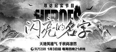 纪录片《闪亮的名字》:英雄是民族最闪亮的坐标