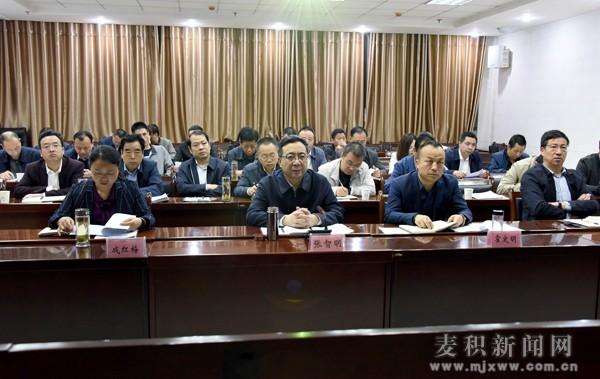 麦积区召开全区驻村帮扶和组织保障工作推进会