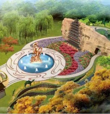 北京世园会开放式的甘肃园古风盎然