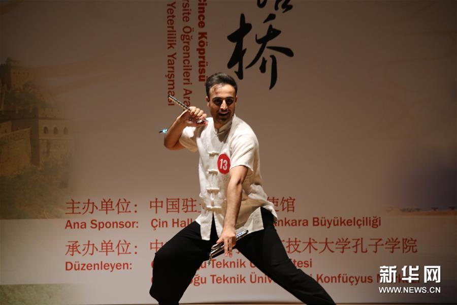 """""""汉语桥""""世界大学生中文比赛土耳其赛区举行决赛"""