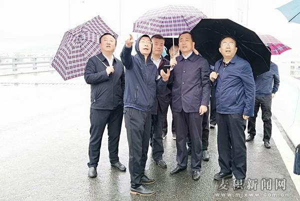 成少平 张宪泉带队督查三阳川隧道和廿铺大桥等重点项目建设