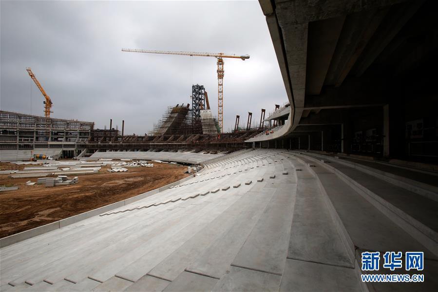 (XHDW)(2)中国援建柬埔寨国家体育场主体结构封顶