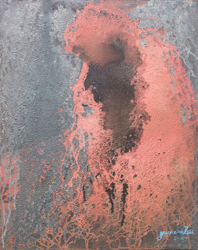 《面壁参禅》 100×80cm  2019年