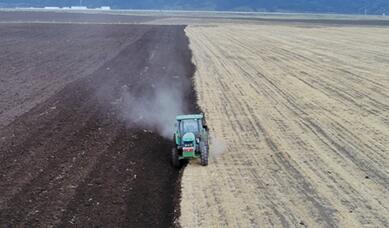 【飞阅甘肃】张掖山丹马场:万亩燕麦草播种忙