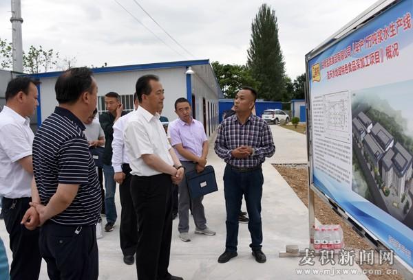麦积区区长成少平调研督查东柯河工业园重点项目建设情况