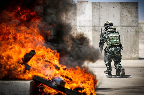 淬火砺剑!武警甘肃特战官兵开展反劫持战斗演练