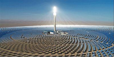 甘肃敦煌100兆瓦熔盐塔式光热电站实现满负荷发电