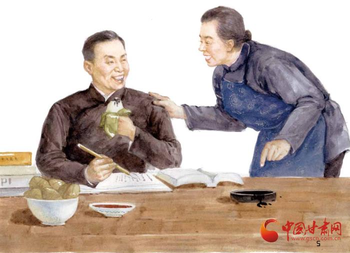 甘肃手绘图画书《信仰的味道》在浙江义乌陈望道故居举行新书首发式(组图)