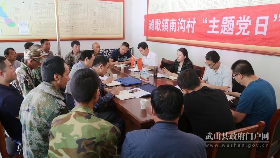 武山县委宣传部党支部在帮扶村开展纪念建党98周年主题党日活动