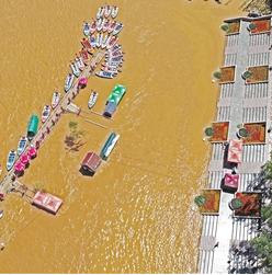 黄河水位大涨兰州沿河两岸成了这样