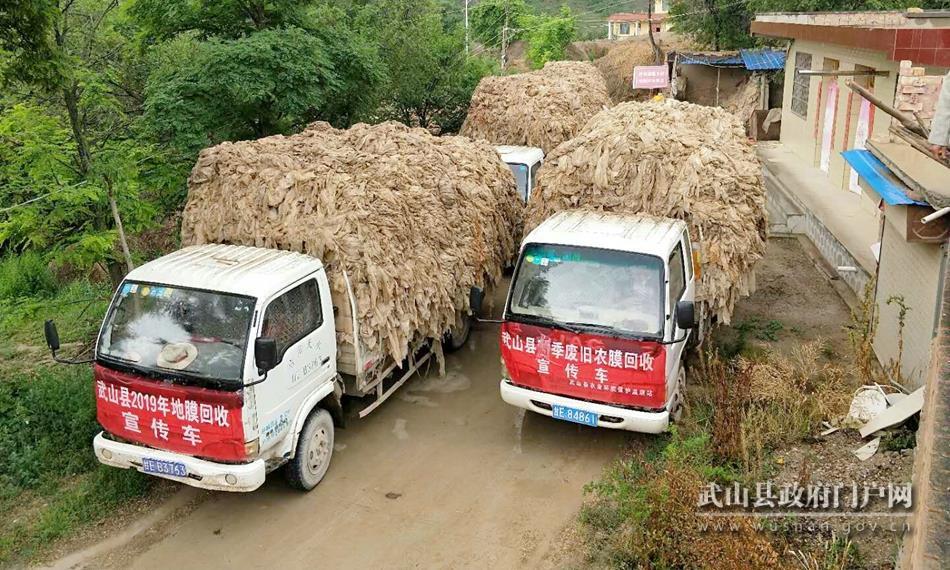 武山县积极开展废旧农膜回收利用 扎实推进农村人居环境整治