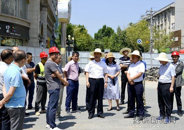 成少平督查城建重点项目及市政基础设施建设情况