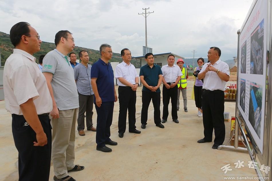 省政府重大项目督导组来天水督查省列重大项目建设工作(图)