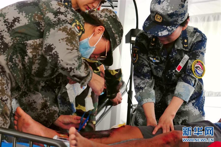 """(国际)(1)中老""""和平列车—2019""""医学救援联演开展全流程联合演练"""