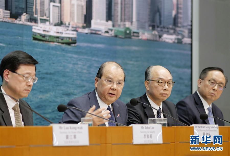 (港澳台·图文互动)(2)香港特区政府多部门:暴力行径无法无天 支持警队严正果断执法