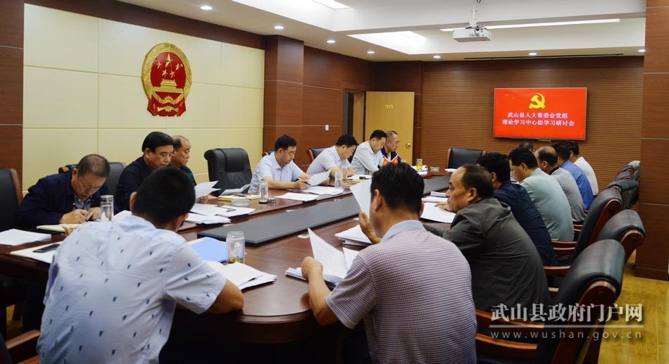 武山县人大常委会党组召开理论学习中心组学习研讨会议