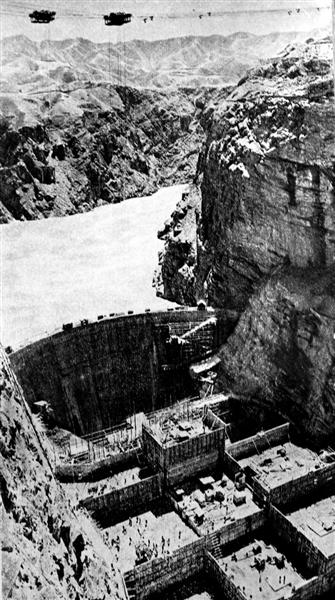60年代的刘家峡大坝
