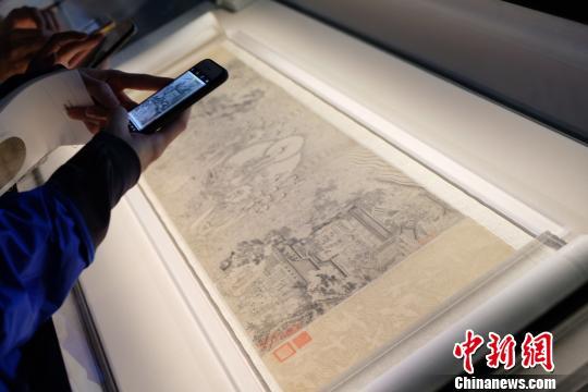 """""""莱溪华宝——翁氏家族旧藏绘画展""""。 王笈 摄"""