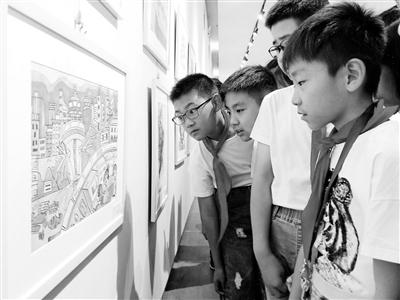 """""""美好生活我的家""""兰州市少年儿童图文创作大赛暨少儿美术展览与广大少年儿童见面"""