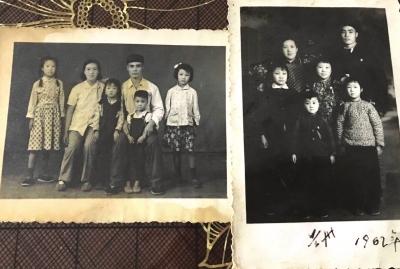 一张70年前的老照片见证一家人的幸福生活
