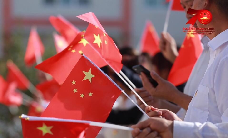 超燃!高台县罗城镇大型快闪《我和我的祖国》献礼新中国成立70周年