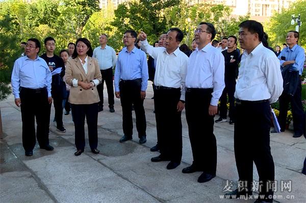 张智明成少平督查麦积区庆祝中华人民共和国成立70周年系列活动筹备及安全保卫工作