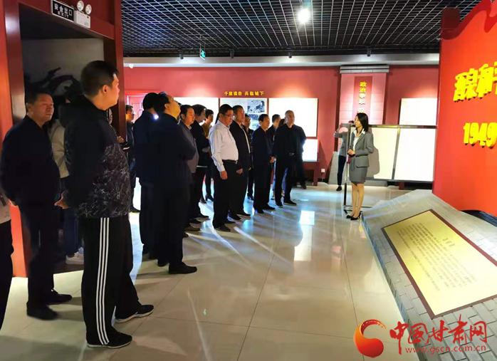 酒泉市福彩中心党员干部参观酒泉起义纪念馆(图)