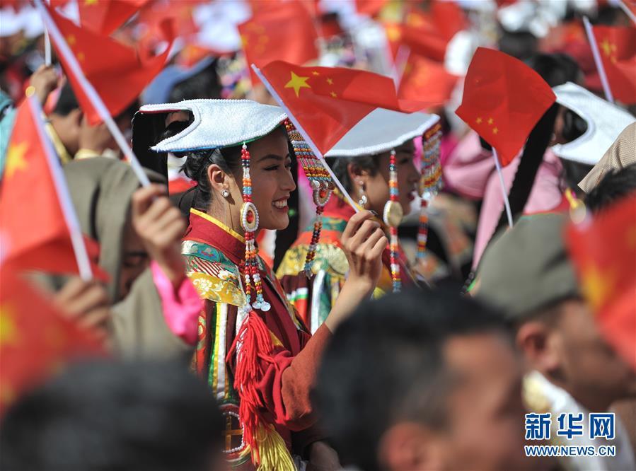 (社会)(3)西藏:千人锅庄颂祖国