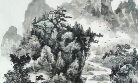 静山松风【国画】