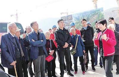 军休老党员、老干部参观沿洮河经济带东乡段达板开发区