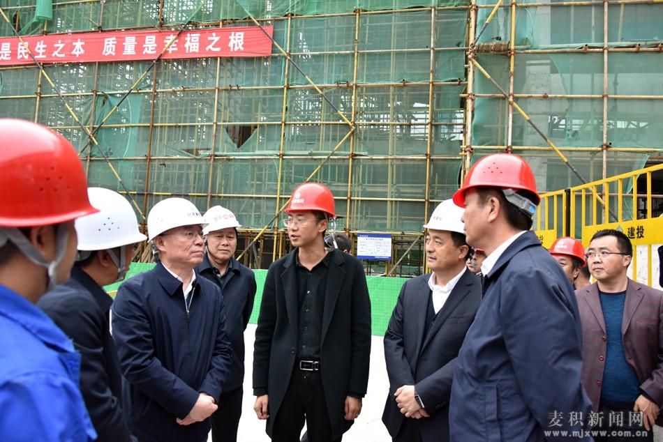王锐调研麦积区城建重点项目