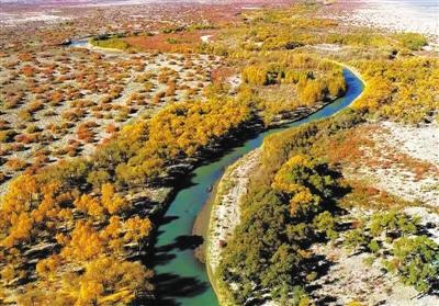 断流近半个世纪 疏勒河再现大河西流 干涸消失三百年 哈拉奇湖在戈壁重生