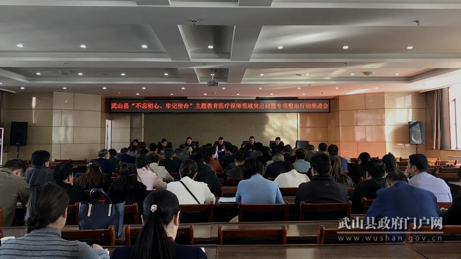 武山县专题部署医疗保障领域突出问题集中整治行动