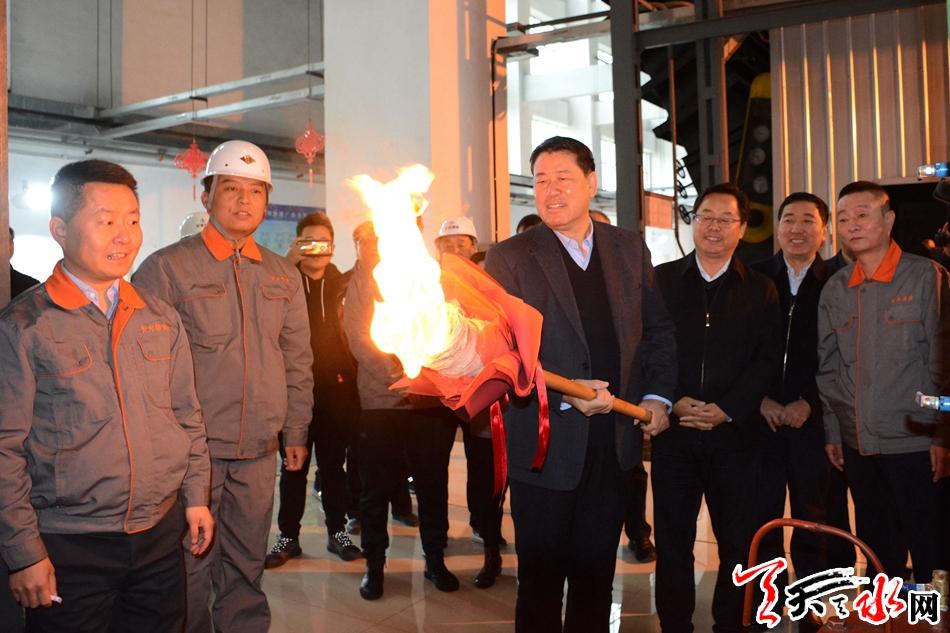 天水今冬供暖提前启动市长王军为热力锅炉点火