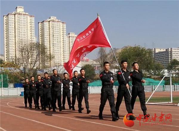 甘肃政法大学国旗护卫队在第六届全国高校升旗手交流会上获佳绩