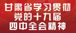 【专题】甘肃省学习贯彻党的十九届四中全会精神