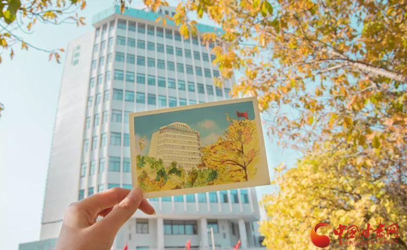 愿此刻美景与你共享!甘肃农业大学学生手绘校园美景