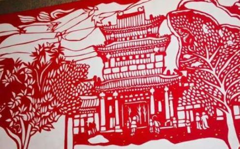 """甘肃艺人剪出""""兰州老街"""" 再现黄河之城历史场景"""