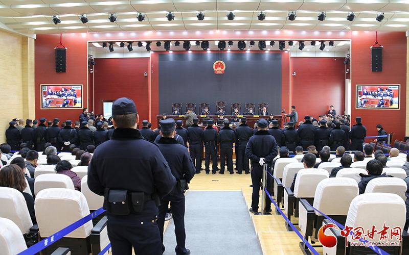 甘肃景泰县法院公开审理范常绅等23人组织领导参加黑社会性质组织犯罪案(图)