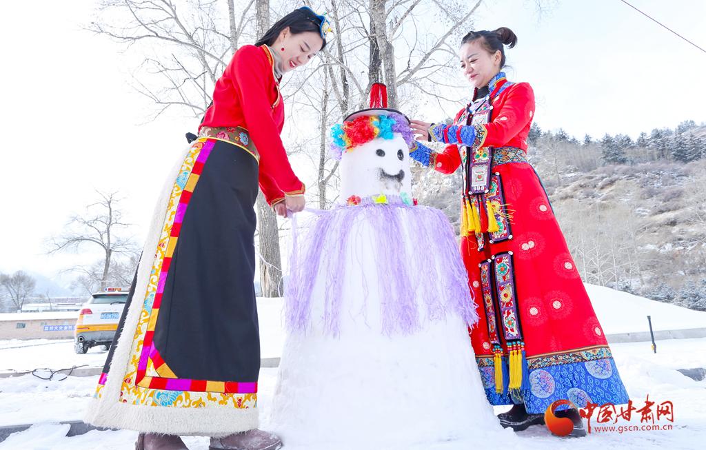 张掖:踏雪肃南胜景 激情冰雪天地(组图)
