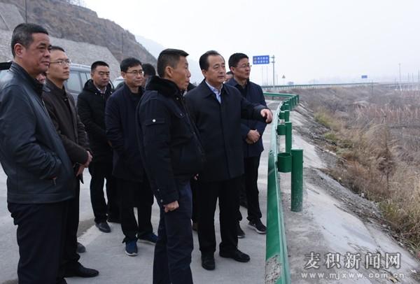 成少平带队督查巡查麦积区渭河中段和葫芦河河长制落实及全域无垃圾治理等情况
