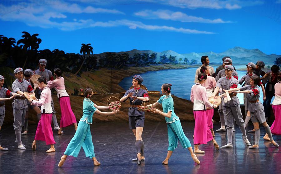 (文化)(3)经典芭蕾舞剧《红色娘子军》在京上演